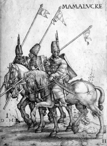 Three_Mamelukes_with_lances_on_horseback